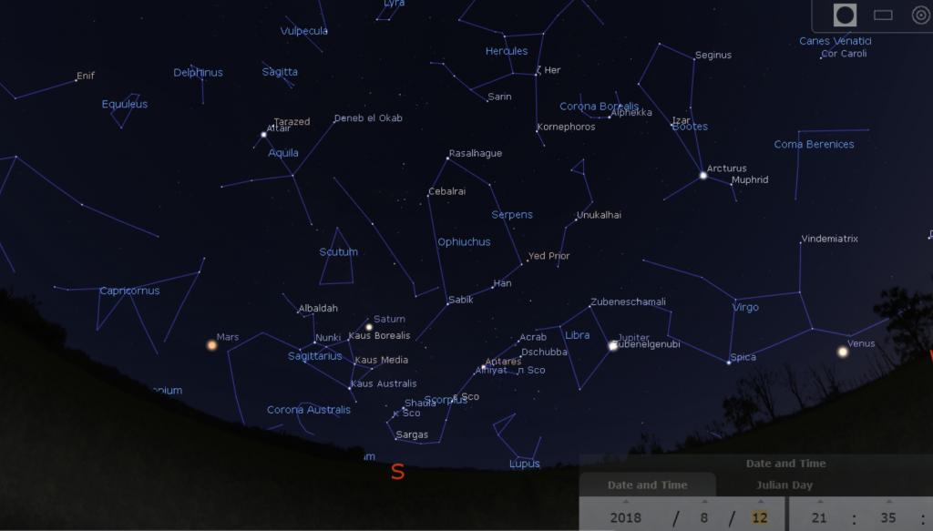 TMA August September Sky Maps